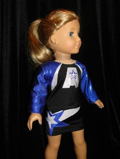 American Girl Doll Cheer Uniform - Find us at www.lilfliprz.com/ #cheer #AmericanGirlDoll