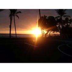Kona's sunset