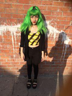 Gran hair manic panic electric lizard