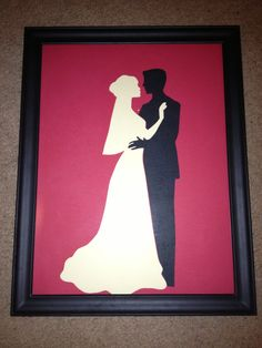 Silhouette art - great idea.