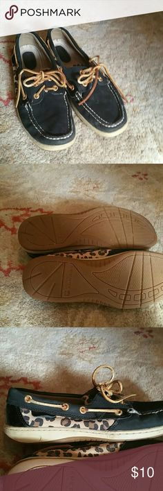 Sperry topsider leopard shoes good condition sperrys Sperry Top-Sider Shoes Flats & Loafers