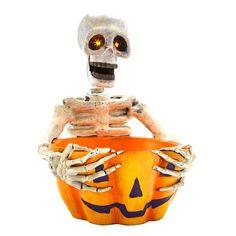 More candy, please! LED Skeleton Bowl, $29.99 #Gordmans #Halloween #HalloweenDecor #Skeleton #Candybowl
