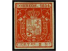 Spain EDIFIL  27 Description  ESPAÑA. Ed.27. 6 reales azul. PIEZA DE LUJO. Cert. COMEX. Cat. 3.670€.