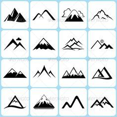 Image result for mountain symbols