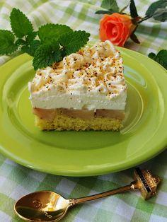 Ala piecze i gotuje: Odwrócone ciasto z jabłkami i bitą śmietaną