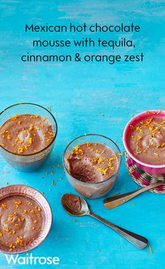 For an adult twist on a childhood classic, try our Mexican hot chocolate mousse with Tequila, cinnamon and orange zest – it's sure to impress dinner guests. See the recipe on the Waitrose website.