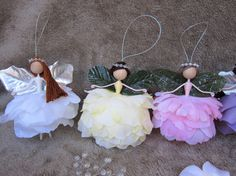 Spring/Christmas flower fairy dolls fairy ornaments handmade