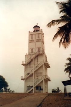 Côte d'Ivoire (Ivory Coast) - Phare de Port Bouët (Petit Bassam), 1991  photo copyright Jürgen Klinksiek  used by permission