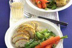 Gestoomde groenten en kipfilet met kerriedressing - Recept - Allerhande - Albert Heijn