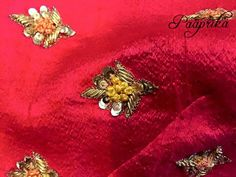 Work Zardozi Embroidery, Embroidery On Kurtis, Kurti Embroidery Design, Hand Work Embroidery, Embroidery Suits, Hand Embroidery Patterns, Embroidery Dress, Beaded Embroidery, Indian Embroidery Designs