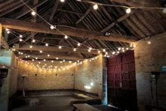Wedding lighting at Cogges Manor Farm by Oakwood Events. Including fairy light canopies, festoon lights, chandeliers, disco lights, uplighting and more. Canopy Lights, Hanging Lights, Fairy Lights, Festoon Lights, Light Bulb Art, Light Up, Barn Lighting, Wedding Lighting, Farm Wedding