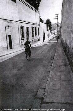 Antigua calle en Tacubaya.