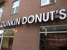 Dunkin' Donuts' Sign Slip | New Raleigh