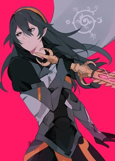 i've been playing lots of smash bros lately and corrin's dark armor version is my favorite look