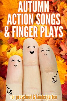20 Seasonal Finger Plays & Action Songs: Spring and Autumn Autumn/Fall Themed Action Songs and Finger Plays for preschool and kindergarten Fall Preschool Activities, Preschool Music, Preschool Lessons, Teaching Music, Therapy Activities, Preschool Fall Theme, Toddler Activities, Preschool Routine, Preschool Teachers