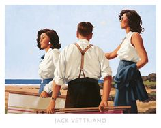 Young Hearts Art Print - 20 x 18 in Jack Vettriano $32.99