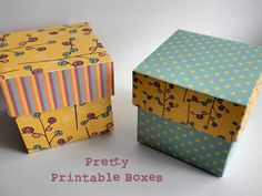 Dreaming on a Star Printable Gift Boxes - Plum Design