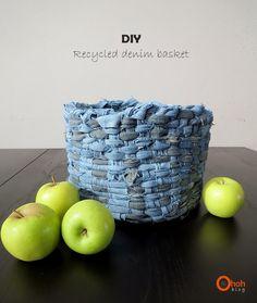 DIY Denim Basket
