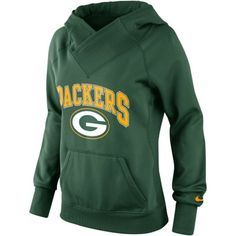 Nike Green Bay Packers Ladies Wildcard Pullover Performance Hoodie - Green