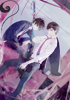 Rin and Yukio Okumura | Ao No Exorcist | Blue Exorcist | ♤ Anime ♤