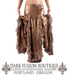 Golden Petal Skirt YOUR SIZE Tribal Fusion by darkfusionboutique