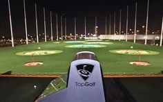Right down the road from my mom's house! TopGolf Houston is now open! The tech-savvy golf and entertainment venture boasts 102 hitting bays, an upscale restaurant and bars on all three levels. Miami Beach, Houston Attractions, Stuff To Do, Things To Do, Random Things, Atlanta Market, Upscale Restaurants, Golf Simulators, Family Weekend