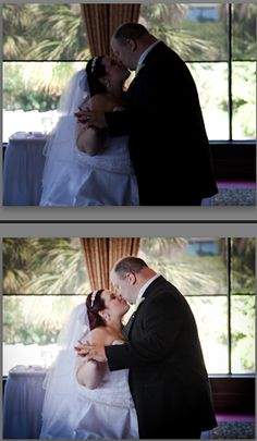 Wedding photography tutorial about fixing shadowy photos that were taken outside or in front of a bright window with Adobe Lightroom. Same adjustments can also be made in Photoshop.