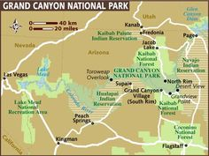 grand canyon map | map of grand canyon view the destination guide interactive map