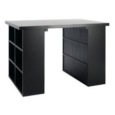 must get hubby to build me one of these. a desk with storage!