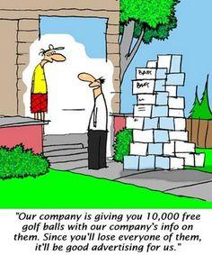 King of Golf Cartoons: '10,000 Free Golf Balls'