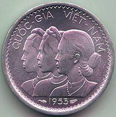 sv-km1-1953-o South Vietnam, Vietnam War, Indochine, Vietnam History, Antique Coins, Phan, The Past, Money, Retro