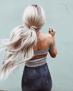 whippin' my hair back and forth in @windsorstore top & denim! #windsorgirl ad.