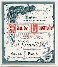 Another gorgeous vintage label. OldDesignShop_FrenchLabelEauDeLavande2.jpg 1,722×1,983 pixels