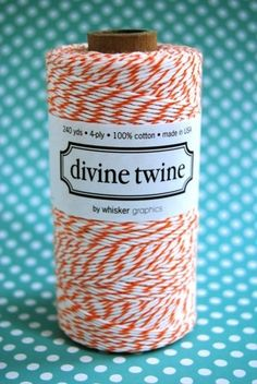 orange and cream twine. i could use every 240 yrds of this!