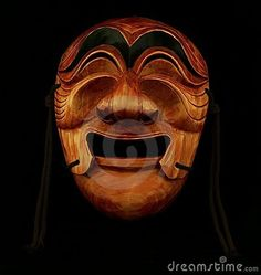 Korean Traditional Male Wooden Mask - Download From Over 43 Million High Quality Stock Photos, Images, Vectors. Sign up for FREE today. Image: 20995853
