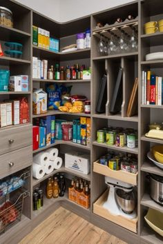 kitchen decor 20 Brilliant Corner Shelves Ideas - Trendecora - Why is it so easy to buy things and so hard to find places to put them? Kitchen Pantry Design Ideas – There are some common pantry designs. One of the most popular is a walk-in pantry.