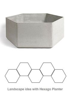 Hexago Mid Century Modern Concrete Hegaxo-Shape Outdoor Planter – Keep up with the times. Concrete Crafts, Concrete Projects, Concrete Design, Contemporary Planters, Modern Planters, Outdoor Planters, Concrete Planters, Pot Jardin, Mid-century Modern