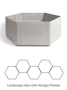 Willy Guhl: Hexago Mid Century Modern Swiss Planter | NOVA68 Modern Design