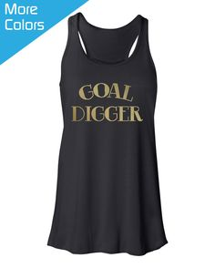 51488082 Cute Workout Tank, Goal Digger Tank Top, Goal Digger Shirt, Goal Digger  Workout