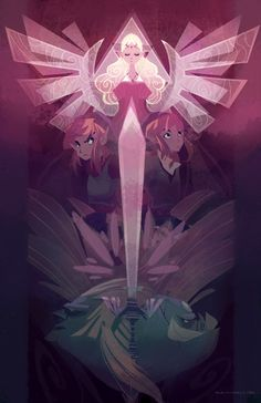 Art by Ann Marcellino - Link and Zelda