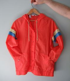 Vintage Windbreaker Red Spring Jacket Size Large Unisex by jessamyjay