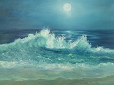 The clouds are glowing from the sun in this seascape painting. Description from palomaresart.wordpress.com. I searched for this on bing.com/images