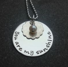 You are my sunshine necklace  My mother used to sing this to me :)
