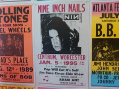#TrentReznor, back in his heroin chic days. #NineInchNails #NIN #concertposters