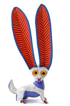 White Giant Ear Rabbit Alebrije Woodcarving from Oaxaca - Der pitico Mützen Online-Shop: Alle Mützen von Bommelmütze bis Wintermütze hier im Shop