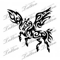 Looking for the perfect tattoo design? Here at Create My Tattoo, we specialize in giving you the very best tattoo ideas and designs for men and women. Body Art Tattoos, New Tattoos, Tatoos, Lower Back Tattoo Designs, Lower Back Tattoos, Pegasus Tattoo, Create My Tattoo, Tribal Drawings, Horse Tattoo Design