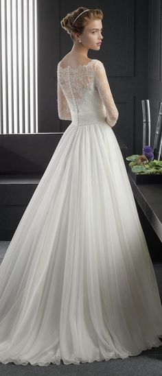 Two by Rosa Clara 2015 Bridal Collection. Pinned by Afloral.com