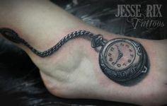 pocket watch tattoo | Paradise Tattoo Gathering : Tattoos : Jesse Rix : Pocket Watch Tattoo