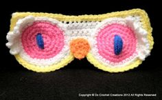 How to Crochet a Night Owl Eye Mask - Part 1