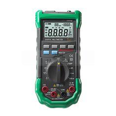 MS8229 5-in-1 Digital Multimeter Auto-Ranging Temperature Humidity Noise Illumination Tester